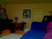 Young amateur couple hot making love in bed room after work