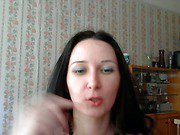 Redhead cutie with long hair engaging webcam pals with lover
